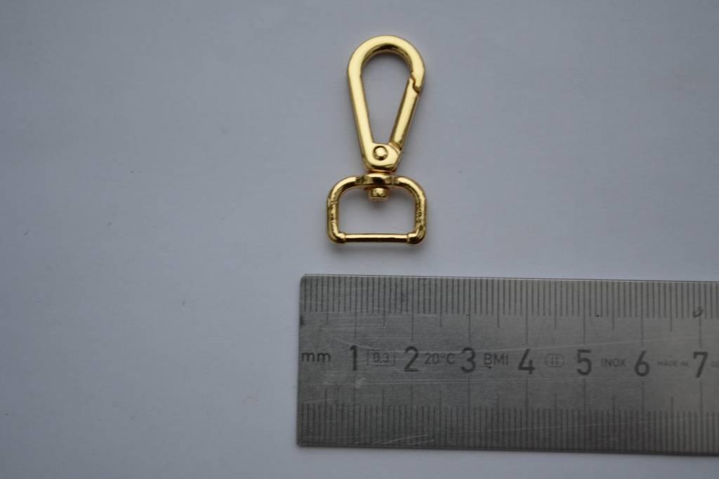 Musketonhaak goud 13mm
