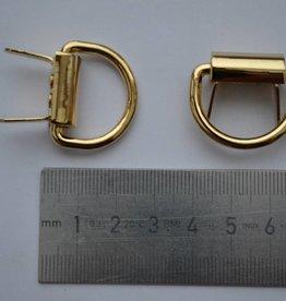 A99 Draagriembevestiging met splitpennen goud 22mm