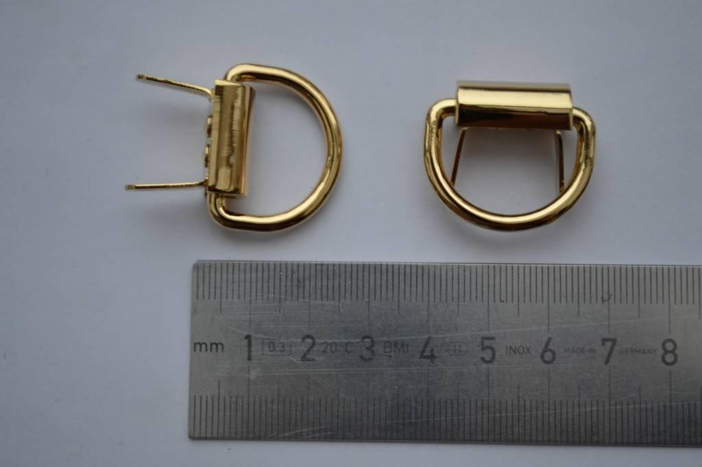 Draagriembevestiging met splitpennen goud 22mm