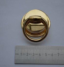 A62 Draagriembevestiging met splitpennen goud 30mm