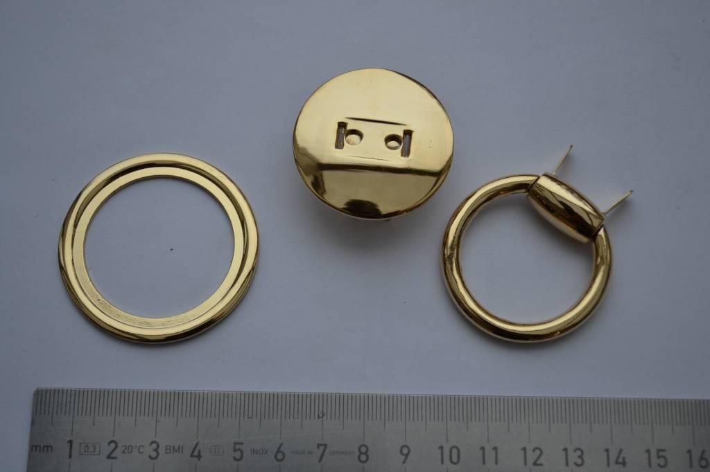 Draagriembevestiging met splitpennen goud 30mm