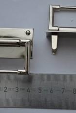 Draagriembevestiging zilver 30mm