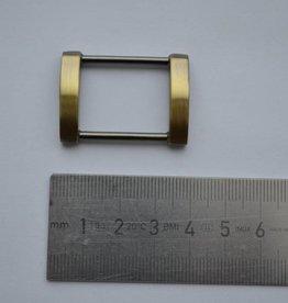 R64 Rechthoekige ring 25mm brons