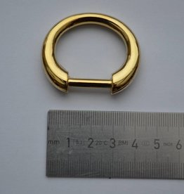 R46 D-ring  goud 20mm