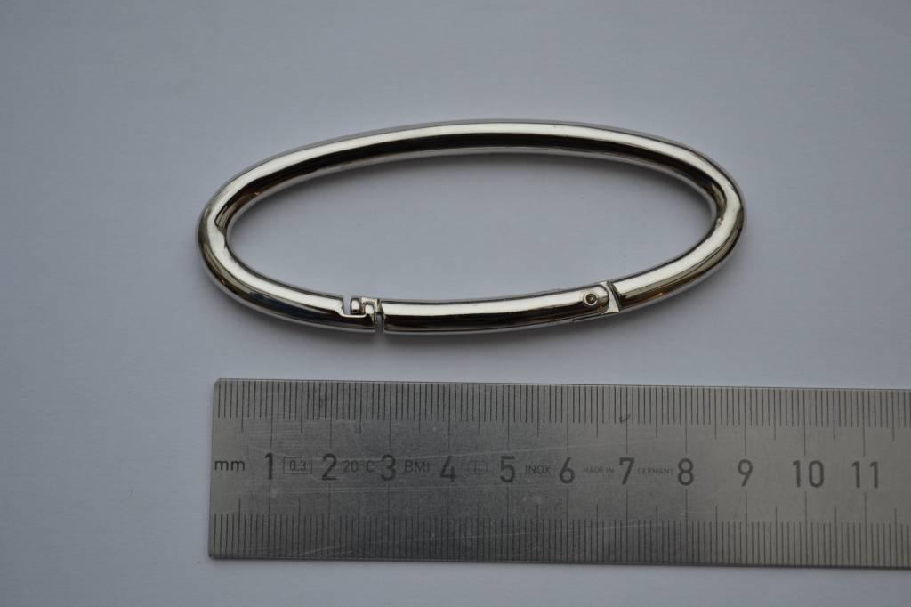 R47 Ring ovaal open 85mm zilver