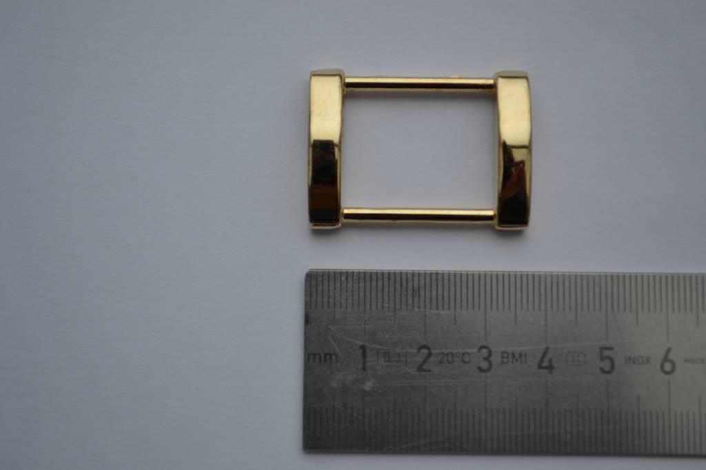R120 Rechthoekige ring goud 25mm