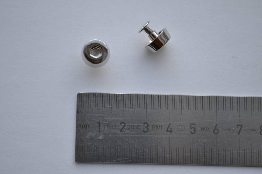 B27 Vijsrivet nikkel incl vijsje
