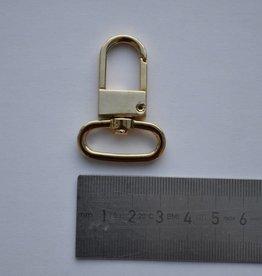 SC33 Musketonhaak goud 25mm