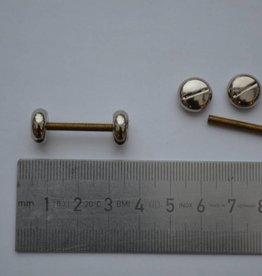 K 5 Draagriembevestiging piercing 20mm zilver