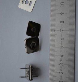 MA13 vierkante magneetknopen 18x18  zilver