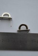 Brugje zilver 10mm met splitpennen