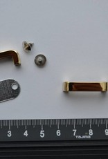 Draagriembevestiging goud brug 20mm