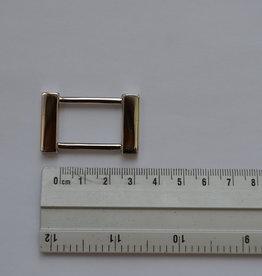 R 6 Rechthoekige ring zilver 25mm