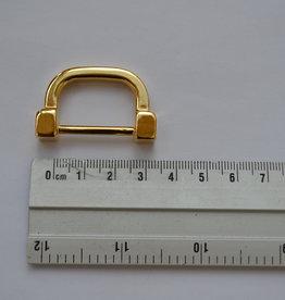 R 1 D-ring goud 25mm