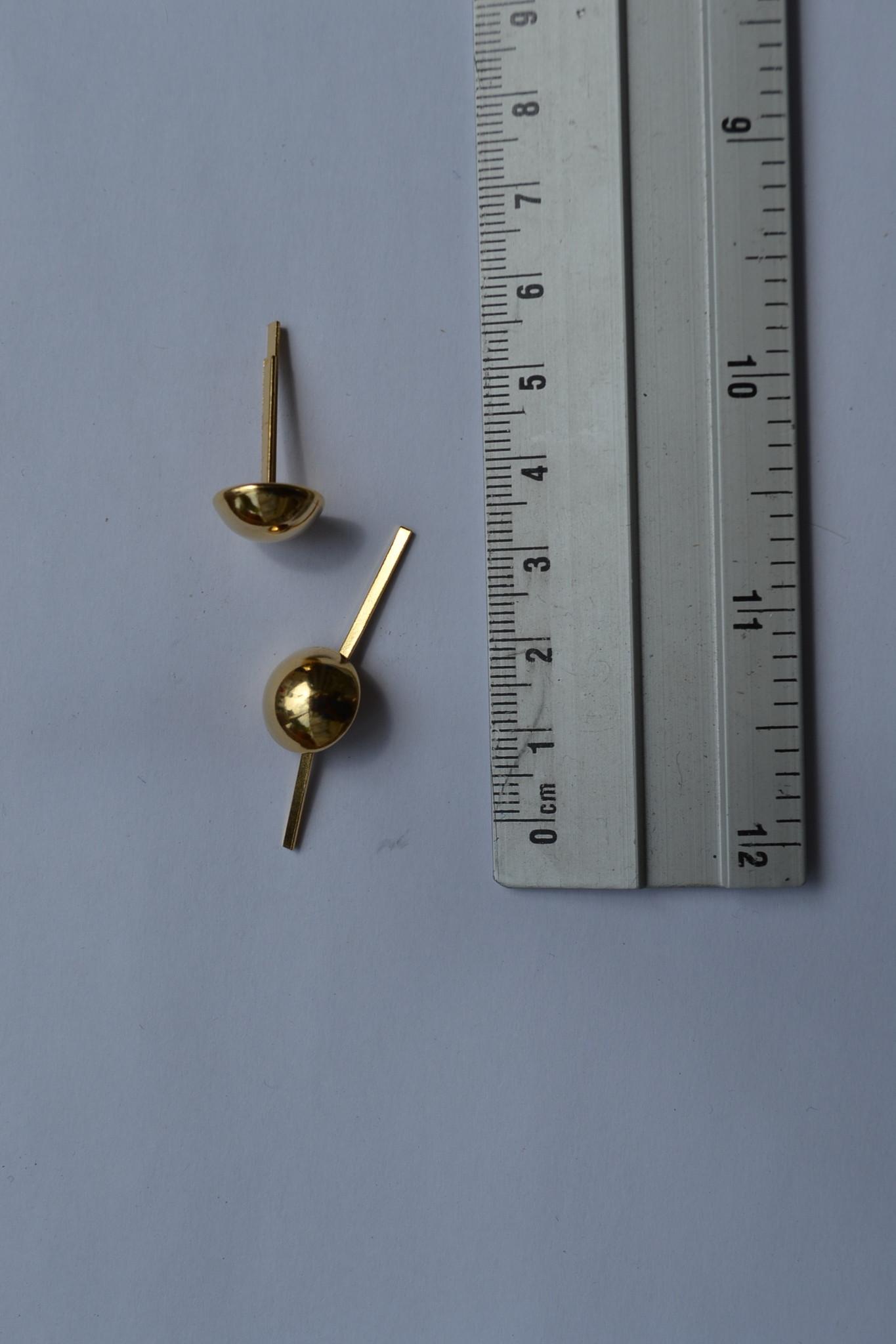 PO9 pootjes met splitpennen 12mm rond goud