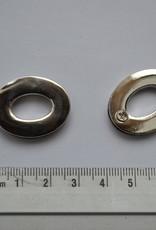 Oog ovaal 14mm zilver