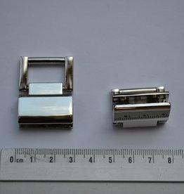 A12 Draagriembevestiging zilver met vijsjes 18mm
