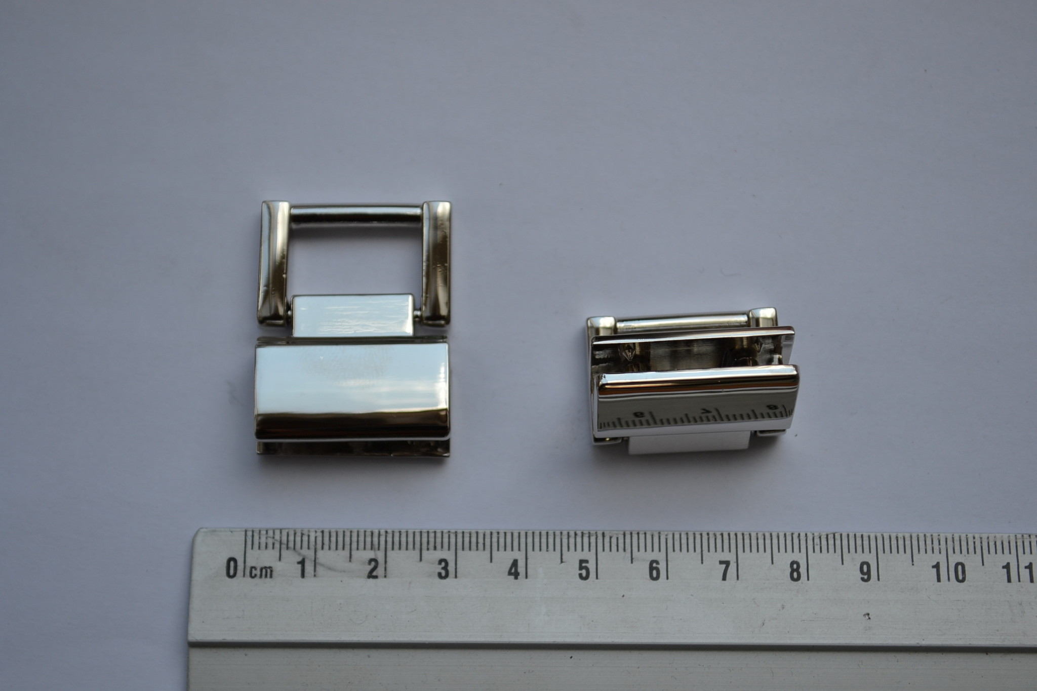 Draagriembevestiging zilver met vijsjes 18mm (per 2)