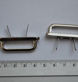 A27 Draagriembevestiging brug zilver 30mm