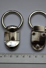 Draagriembevestiging zilver 25mm