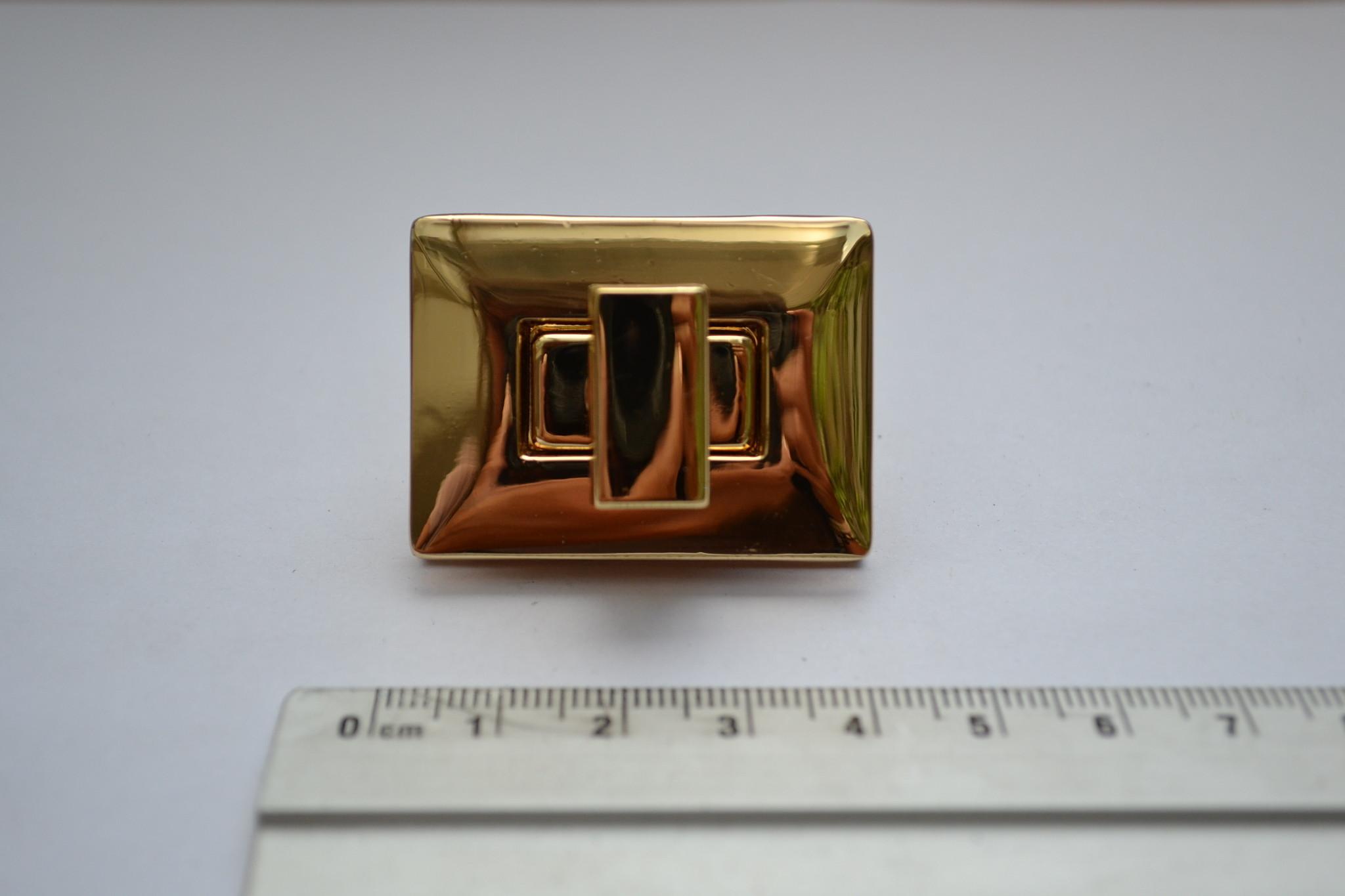 Draaisluiting rechthoek goud
