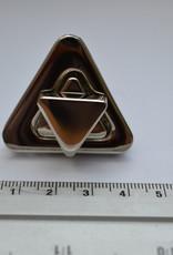 Draaisluiting driehoekig zilver