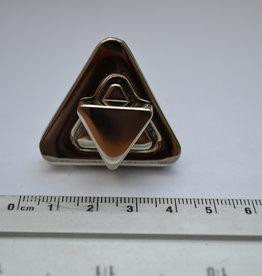 TW19 Draaisluiting driehoekig zilver