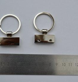 Key6 sleutelhanger zilver