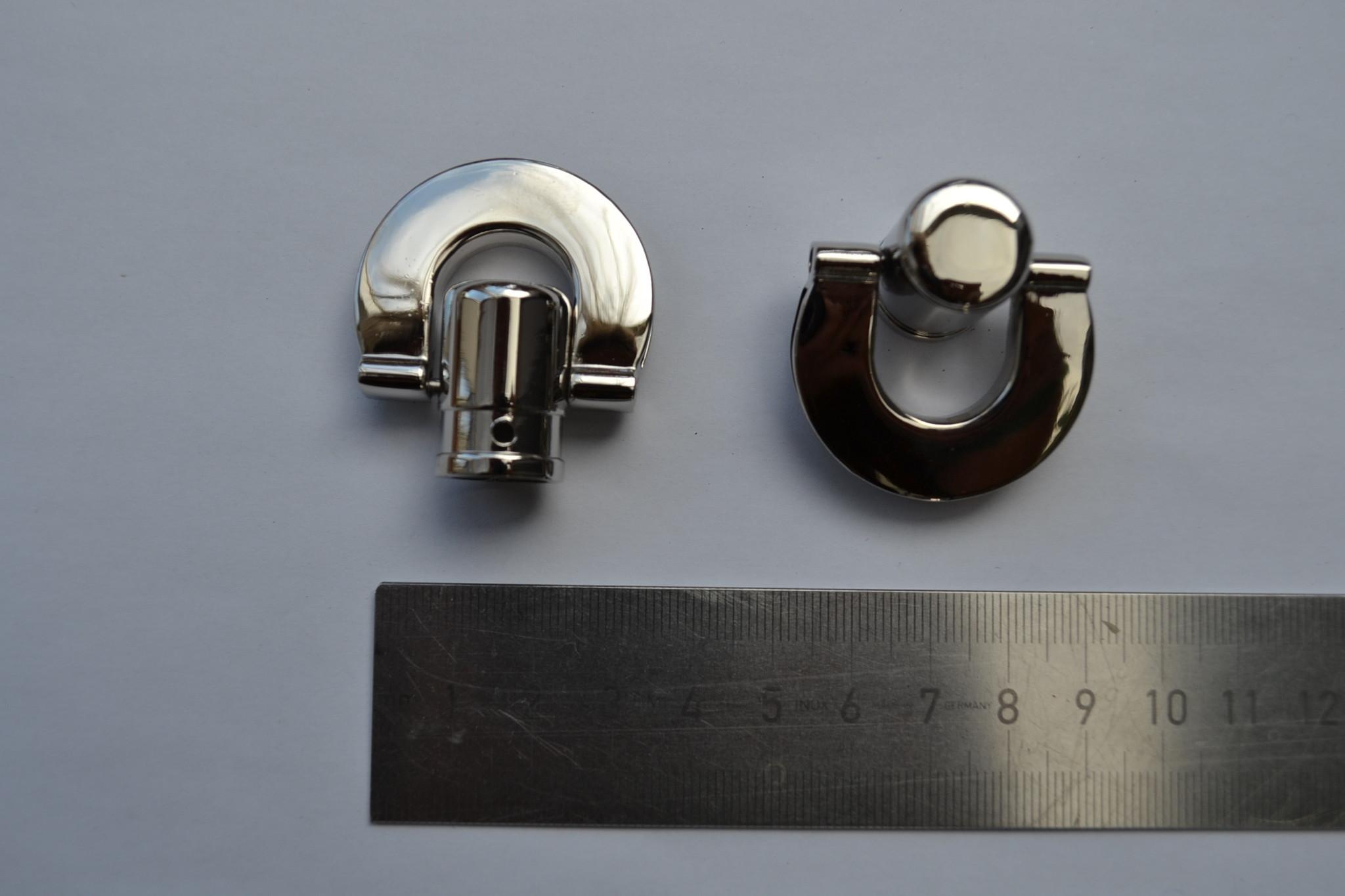 Draagriembevestiging zilver voor handvat