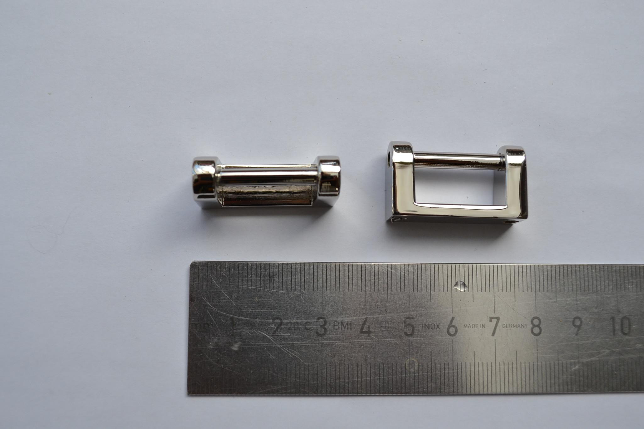 A85 draagriembevestiging brug 20mm zilver