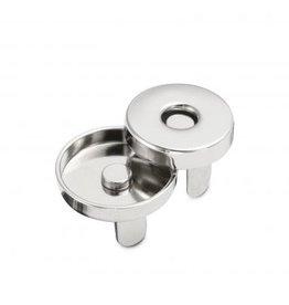 MA 3 Magneten zilver met boord 18mm