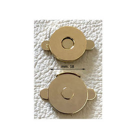 MA4 platte magneet goud klein randje (per 10)