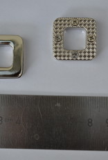 BUT12 Ogen vierkant zilver 12mm