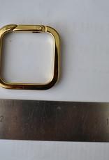 R11 Vierkante ring goud 40mm