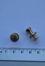 POM33  Geweerknopjes goud konisch 7.9mm