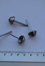 Pootjes met splitpennen 14mm gunmetal