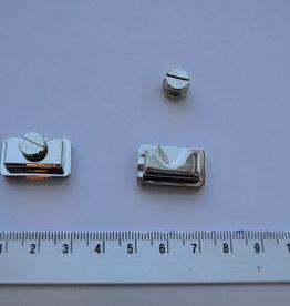 F46 Verborgen tassluiting zilver 22x13mm met magneet
