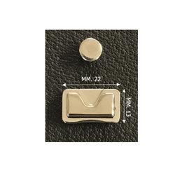 Verborgen tassluiting zilver 22x13mm met magneet