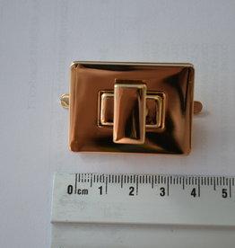 TW23 Draaisluiting rechthoekig  goud