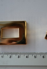 Draaisluiting rechthoekig  goud