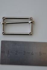 Schuifgesp zilver 30mm