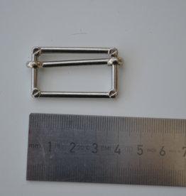 S9 Schuifgesp zilver 30mm