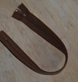 Nylon rits 35cm Middenbruin