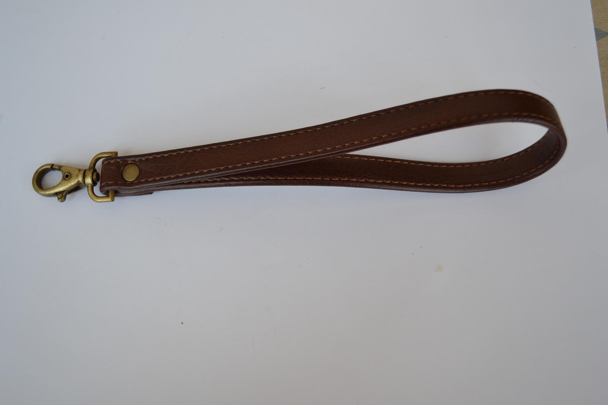 Afgewerkte draagriem 19cm donkerbruin