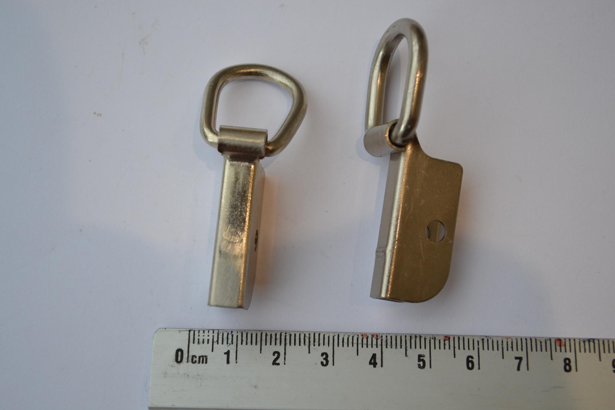 Soufflethaak matzilver 15mm (per 2)