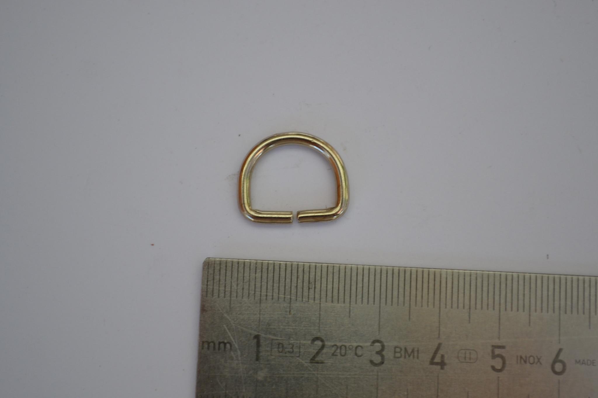 D-ring 15mm zilver