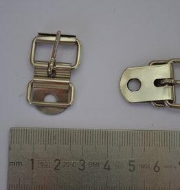 BU55 Gesp met passant zilver 15mm