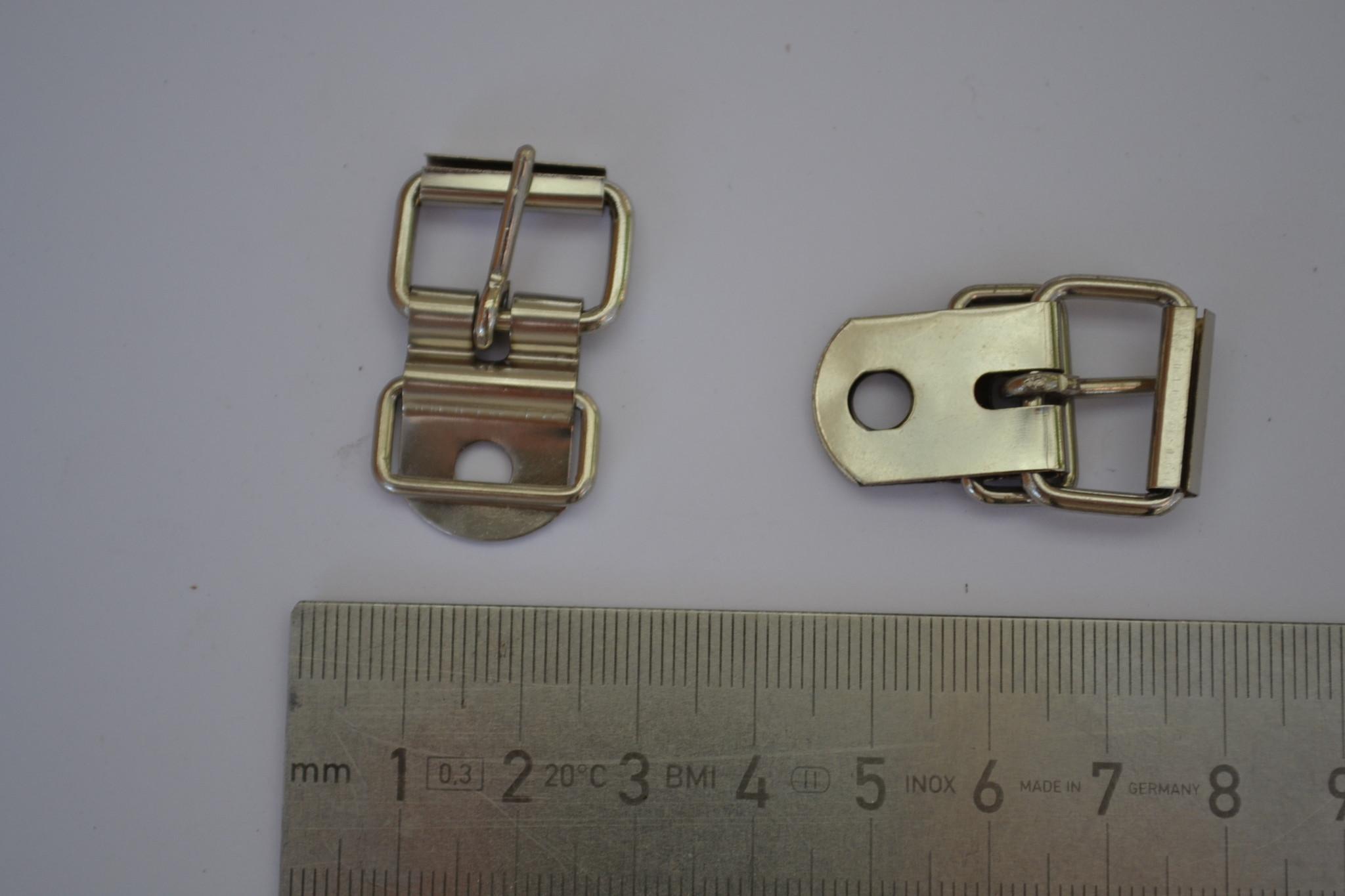 Gesp met passant zilver 15mm