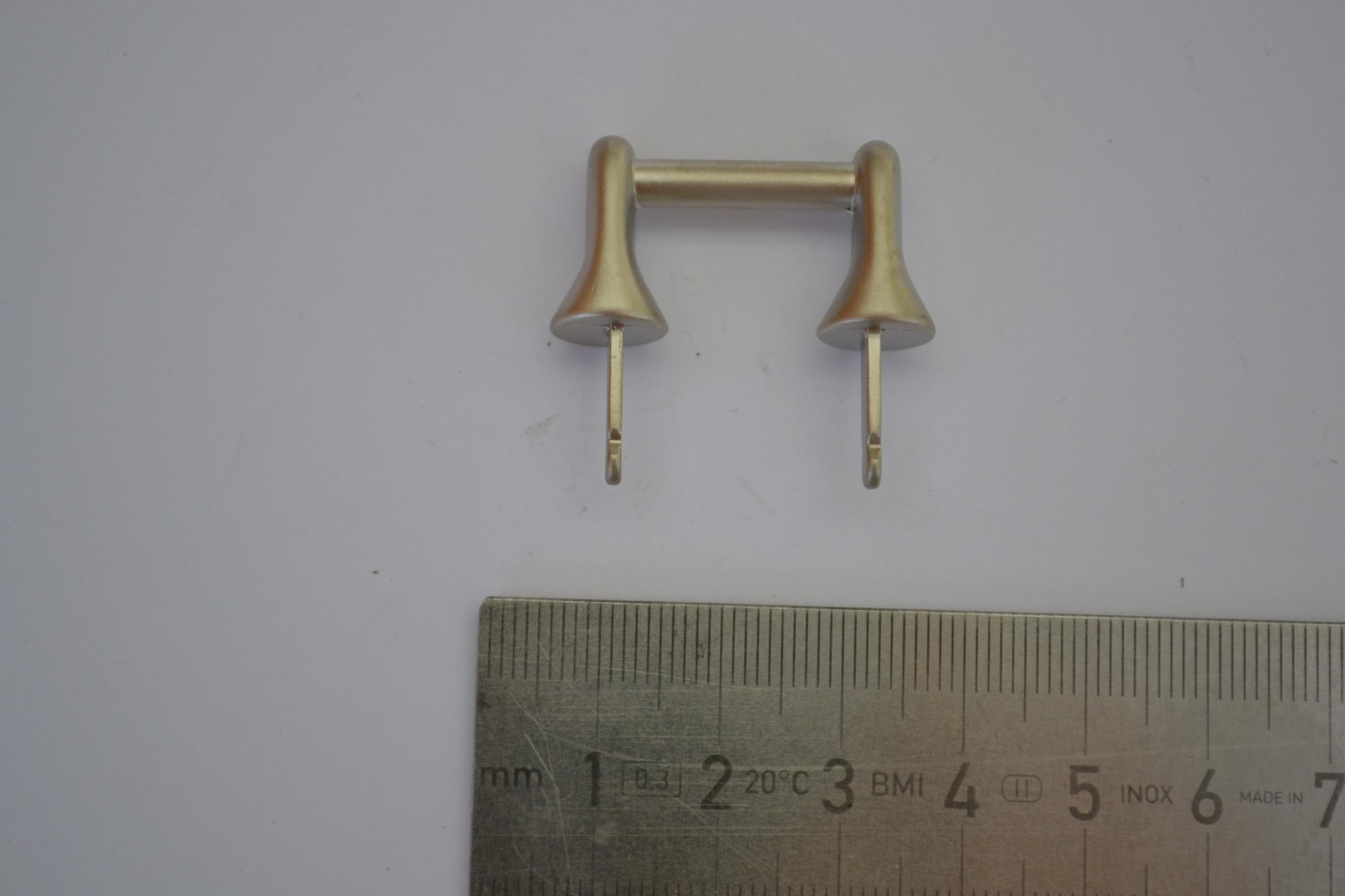 Draagriembevestiging matzilver 15mm