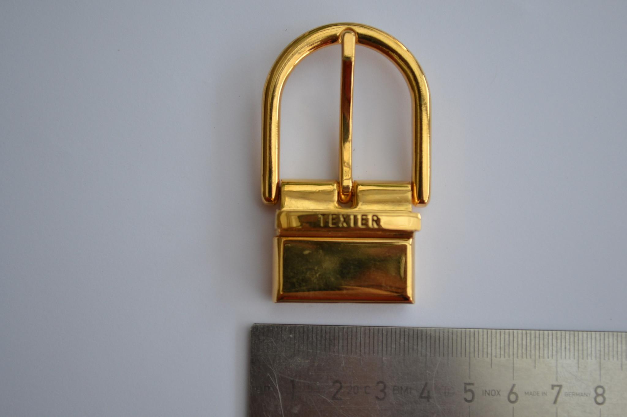 Gesp met passant 30mm goud